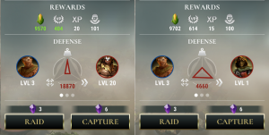 Dawn Of Titans Battle Comparison